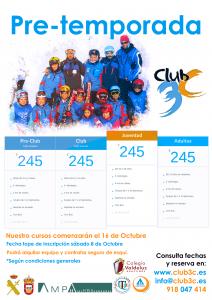 Pretemporada esqui para nuestros socios